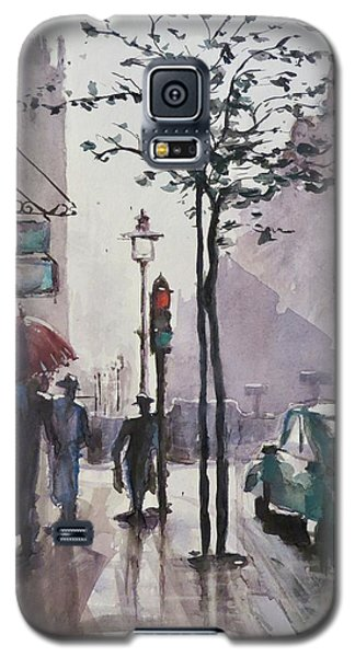 Galaxy S5 Case featuring the painting Wet Afternoon by Geni Gorani