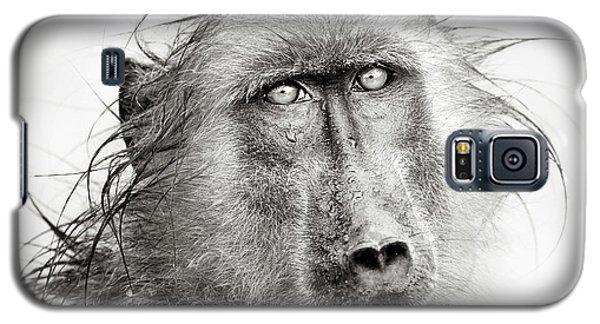 Wet Baboon Portrait Galaxy S5 Case