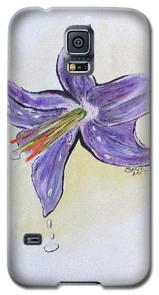 Wet Flower Galaxy S5 Case