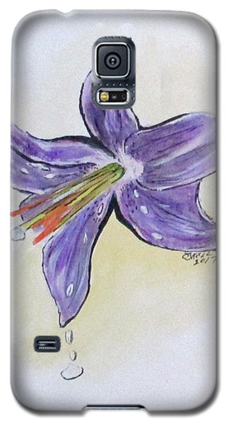 Wet Flower Galaxy S5 Case