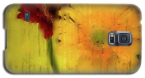 Wet Glass Flowers Galaxy S5 Case