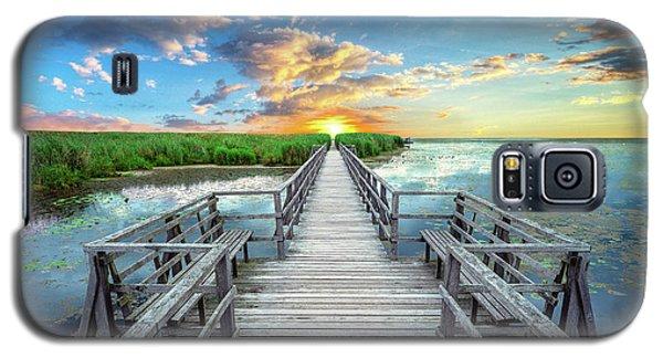 Wetland Marsh Sunrise Treasure Coast Florida Boardwalk A1 Galaxy S5 Case