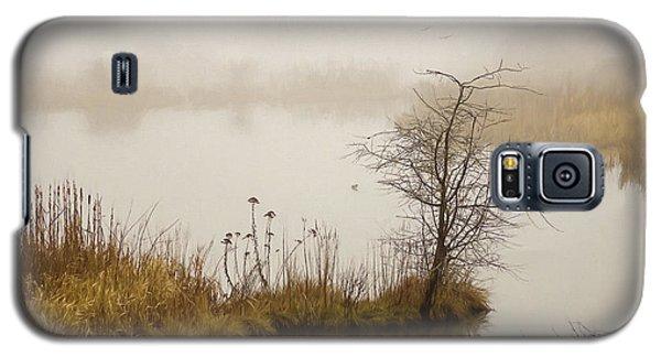 Galaxy S5 Case featuring the painting Wetland Wonders Of Winter by Jordan Blackstone