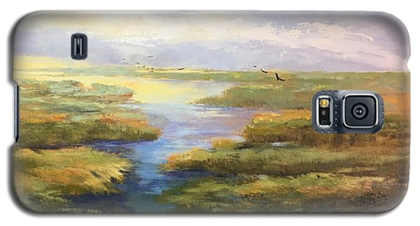 Galaxy S5 Case featuring the painting Wetlands by Helen Harris