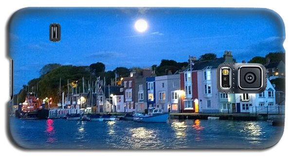 Weymouth Harbour, Full Moon Galaxy S5 Case by Anne Kotan
