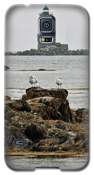 Whaleback Lighhouse From Fort Constitution Galaxy S5 Case