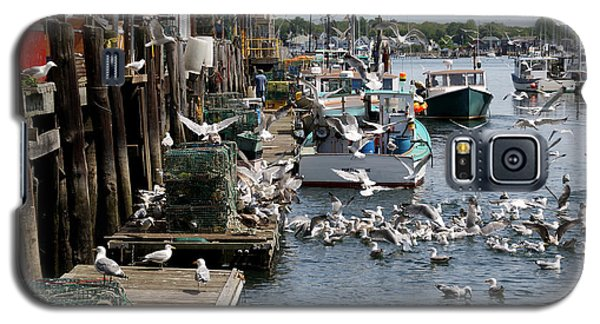 Galaxy S5 Case featuring the photograph Wharf Action by Lynda Lehmann