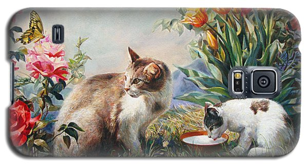 Galaxy S5 Case featuring the painting What A Girl Kitten Wants by Svitozar Nenyuk