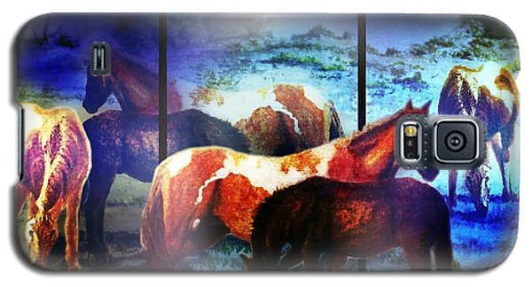 Galaxy S5 Case featuring the mixed media What  Horses Dream by Hartmut Jager