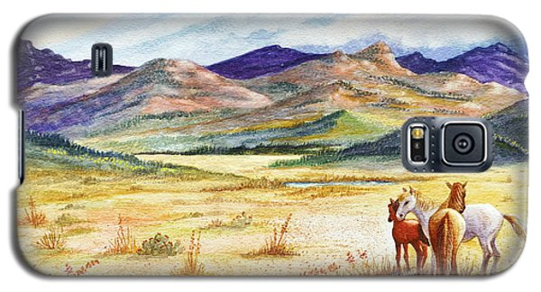 Galaxy S5 Case featuring the painting What Lies Beyond by Marilyn Smith
