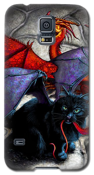 Dragon Galaxy S5 Case - What The Catabat Dragged In by Stanley Morrison