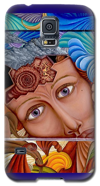 Galaxy S5 Case featuring the painting What The Mind Feels by Karen Musick