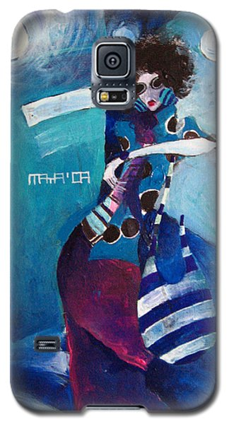 Galaxy S5 Case featuring the painting What Time Is It by Maya Manolova