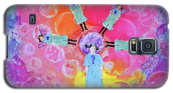Galaxy S5 Case featuring the mixed media What To Do by Desiree Paquette