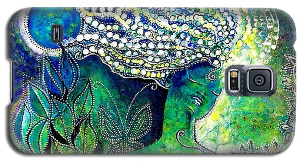 Galaxy S5 Case featuring the painting Whatever Happens, Extract Pearls by Julie  Hoyle