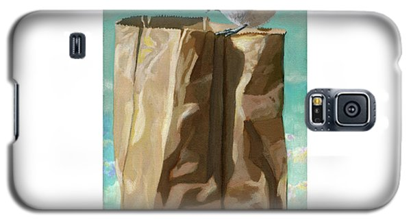 Galaxy S5 Case featuring the painting What's In The Bag Original Painting by Linda Apple