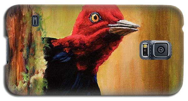 Galaxy S5 Case featuring the painting Whats Up? by Igor Postash