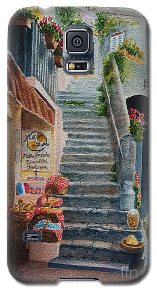 Galaxy S5 Case featuring the painting Whats Up by Karen Fleschler