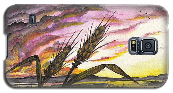 Galaxy S5 Case featuring the painting Wheat Field by Darren Cannell