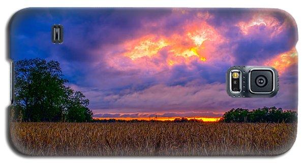 Wheat Field Sunset Galaxy S5 Case