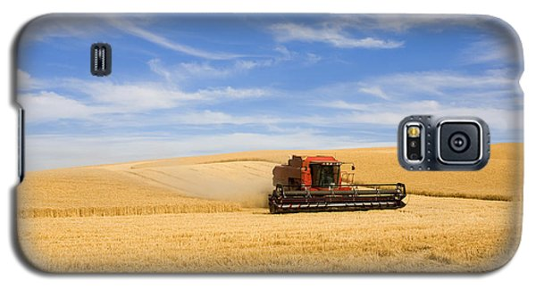 Wheat Harvest Galaxy S5 Case by Mike  Dawson