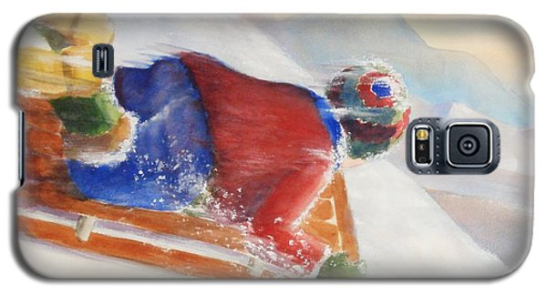 Galaxy S5 Case featuring the painting Wheee by Marilyn Jacobson