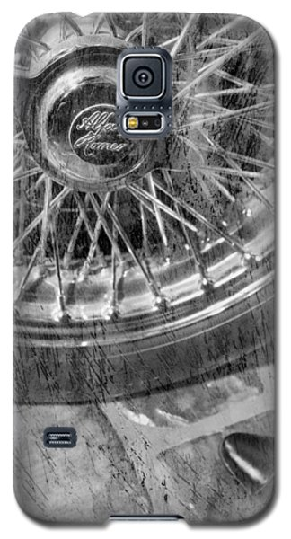 Galaxy S5 Case featuring the photograph Wheel Of An Old Car. by Andrey  Godyaykin