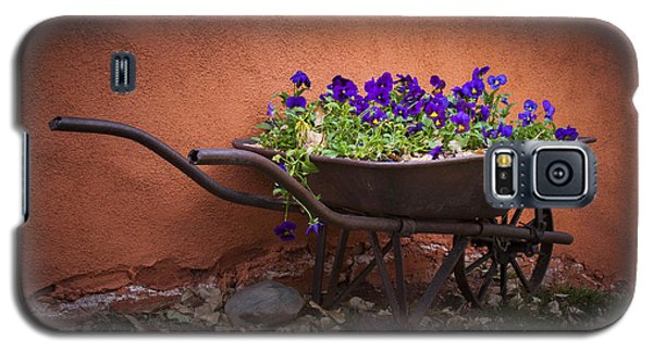 Wheelbarrow Full Of Pansies Galaxy S5 Case