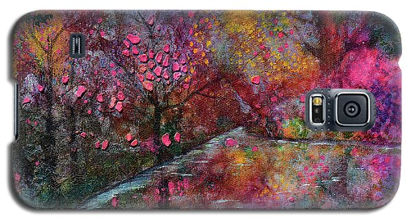 When Cherry Blossoms Fall Galaxy S5 Case by Donna Blackhall