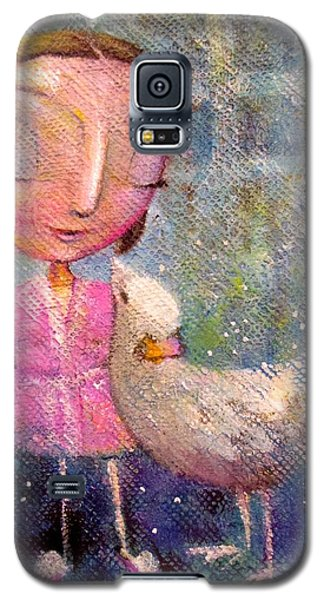 Galaxy S5 Case featuring the painting When I'm With You by Eleatta Diver