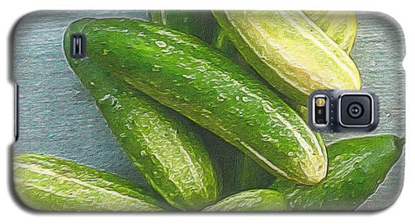 When Life Brings You Cucumbers Galaxy S5 Case by Michele Meehl