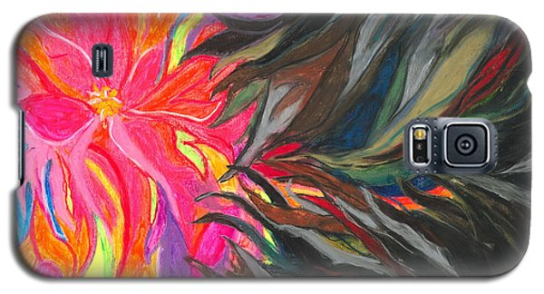 Galaxy S5 Case featuring the painting When Pain Comes by Ania M Milo