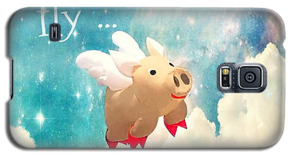 Galaxy S5 Case featuring the photograph When Pigs Fly by Marianna Mills
