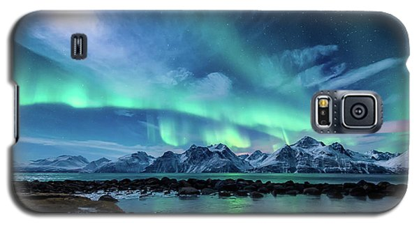 Ice Galaxy S5 Case - When The Moon Shines by Tor-Ivar Naess