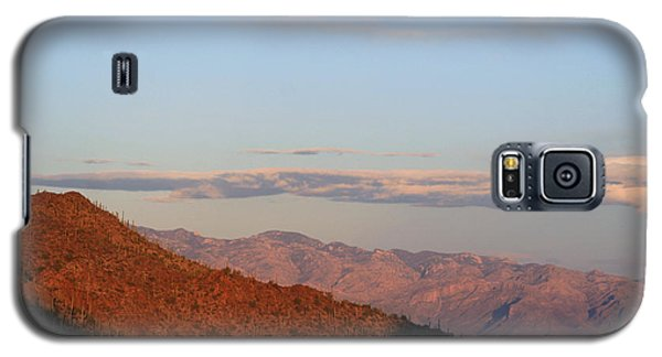 Galaxy S5 Case featuring the photograph When The Mountains Turn Pink... by Paula Guttilla