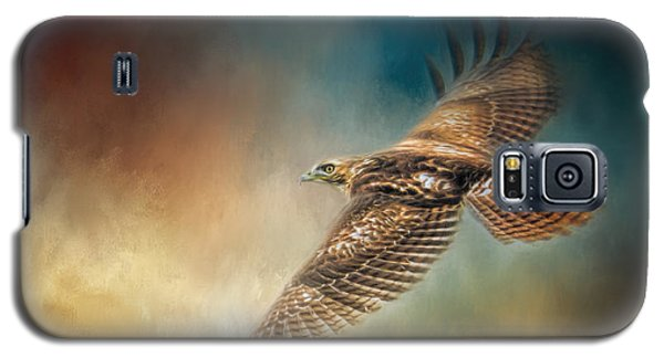 When The Redtail Flies At Sunset Hawk Art Galaxy S5 Case