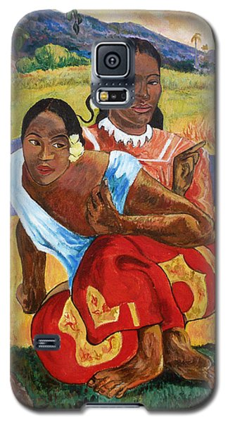 Galaxy S5 Case featuring the painting When Will You Marry? by Tom Roderick