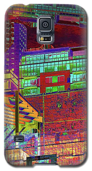 Galaxy S5 Case featuring the digital art Where City Shadows Fall by Wendy J St Christopher