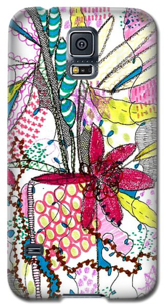 Galaxy S5 Case featuring the mixed media Where Did You Put My Cup? by Lisa Noneman