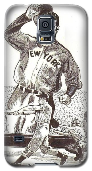 Galaxy S5 Case featuring the drawing Where Have You Gone Joe Dimaggio  by Ray Tapajna