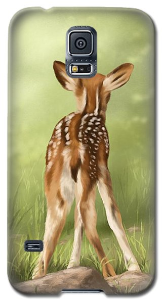 Galaxy S5 Case featuring the painting Where Is My Mom? by Veronica Minozzi