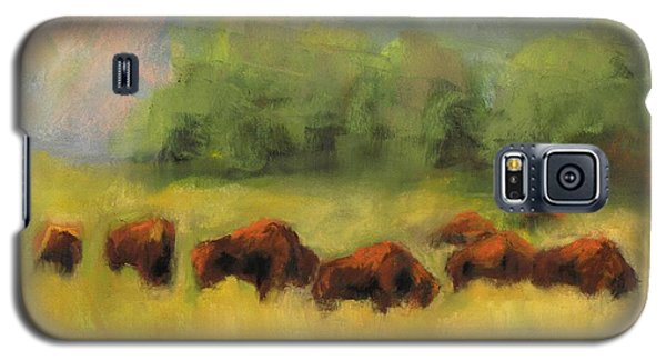 Galaxy S5 Case featuring the painting Where The Buffalo Roam by Frances Marino