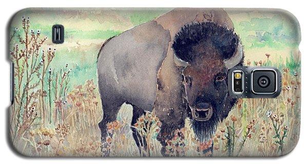 Where The Buffalo Roams Galaxy S5 Case by Arline Wagner