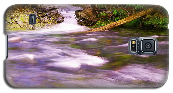 Galaxy S5 Case featuring the photograph Where The Stream Meets The River by Jeff Swan