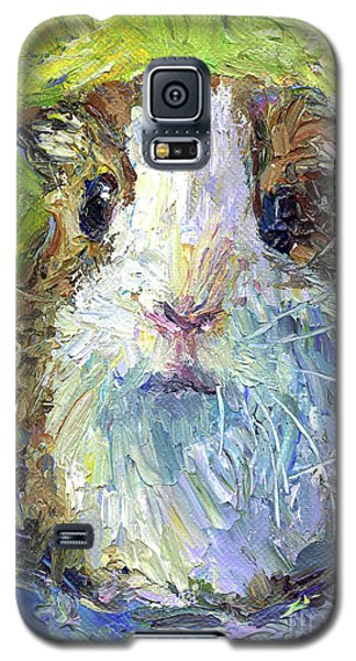 Whimsical Guinea Pig Painting Print Galaxy S5 Case