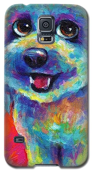 Galaxy S5 Case - Whimsical Labradoodle Painting By by Svetlana Novikova