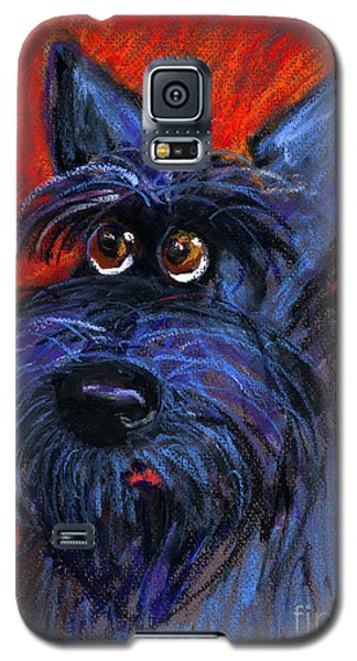 whimsical Schnauzer dog painting Galaxy S5 Case