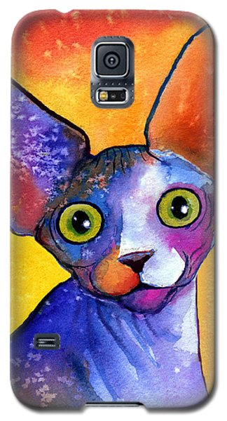 Whimsical Sphynx Cat Painting Galaxy S5 Case