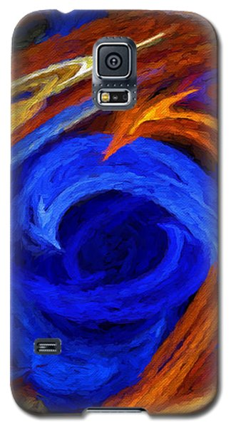 Galaxy S5 Case featuring the digital art Whirlpool Abstract by Andee Design