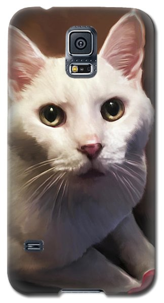 Whiskers And Rose Galaxy S5 Case